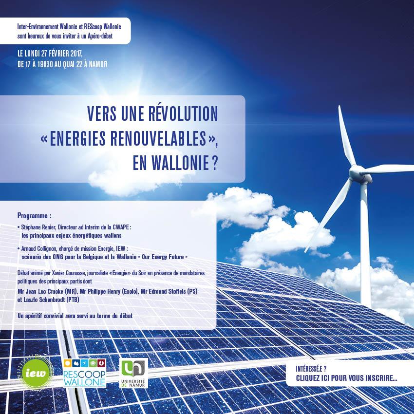 Conference Vers une révolution énergie renouvelable en Wallonie 27022017